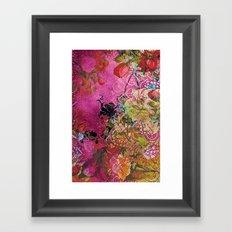 Silk Pink Floral Framed Art Print