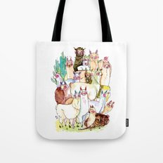 Wild family series - Llama Party Tote Bag