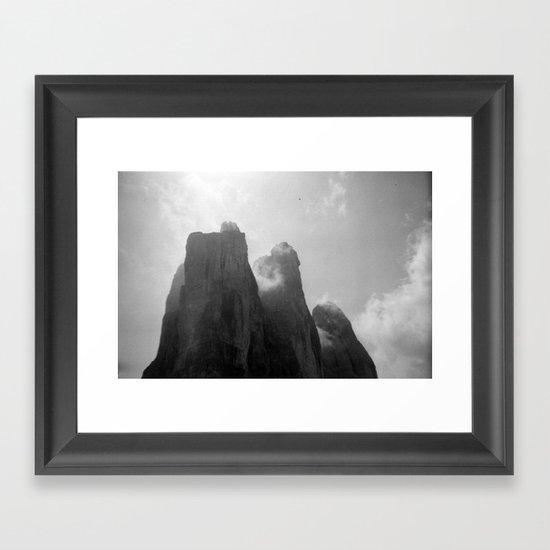 Three Peaks Framed Art Print