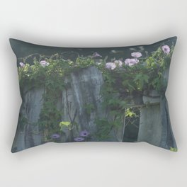 Southern Purple Morning Glories Rectangular Pillow