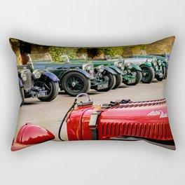 Vintage Aston Martins.  Rectangular Pillow