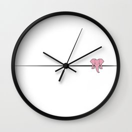 Elephant Sidekick Wall Clock