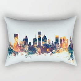 Houston Texas Skyline Rectangular Pillow