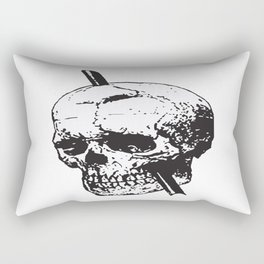 Frontal Lobotomy Skull Of Phineas Gage Vector Isolated Rectangular Pillow