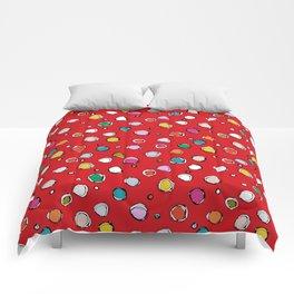 wilderdot red Comforters