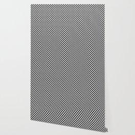Black White Checks Minimalist Wallpaper