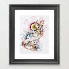 Love in a Bottle Framed Art Print