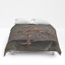 Western Dragon Skeleton Anatomy Comforters