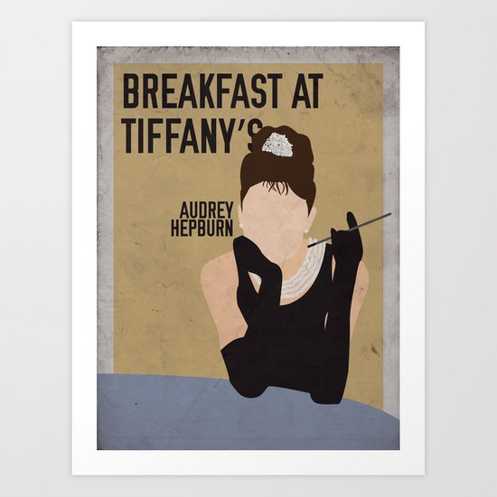 Breakfast At Tiffany's staring Audrey Hepburn Art Print