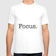 Focus Mens Fitted Tee MEDIUM White