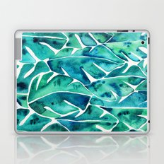 Split Leaf Philodendron – Teal Laptop & iPad Skin
