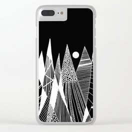 Patterns in the mountains Clear iPhone Case