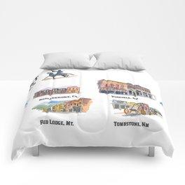 USA Wild West Towns Main Streets - Telluride, Breckenridge, Aspen & Co. Comforters