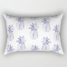 Blue Pineapple Rectangular Pillow