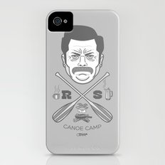 Ron Swanson Canoe Camp (clean gray variant) Slim Case iPhone (4, 4s)