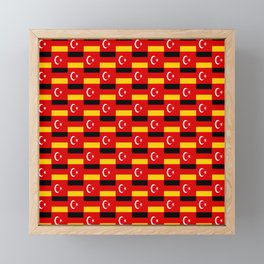 Mix of flag: Germany and turkey Framed Mini Art Print
