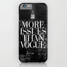More Issues Than Vogue Black and White NYC Manhattan Skyline iPhone 6 Slim Case