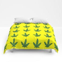 printed mariahuana Comforters