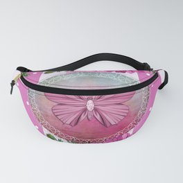 Stripes, Flowers and Butterflies Fanny Pack