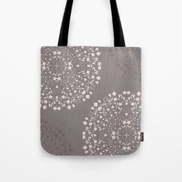 Flowers Garden in Pink and Grey Tote Bag