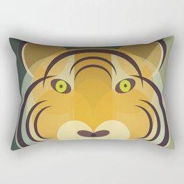 Mid Century Tiger Rectangular Pillow