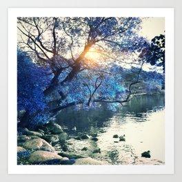 Hope in blue Art Print