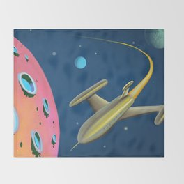 Fantastic Adventures in Outer Space Throw Blanket