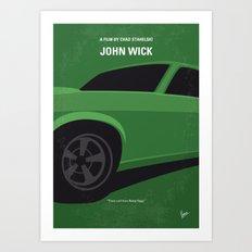 No759 My John Wick minimal movie poster Art Print