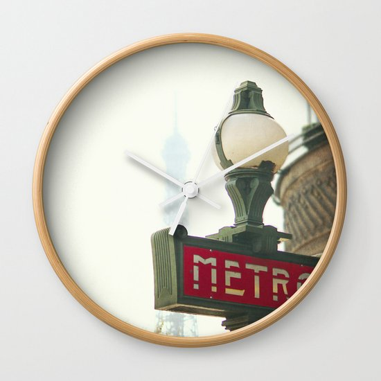 Metro in Paris Wall Clock