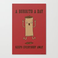 A Burrito A Day Canvas Print