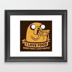 i love food more than i love people Framed Art Print