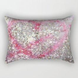 Cupid's arrow and heart on rock Rectangular Pillow