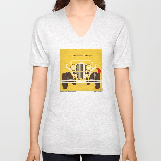 No206 My The Great Gatsby minimal movie poster Unisex V-Neck