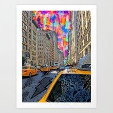 Doodle town NYC Art Print