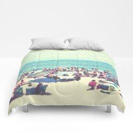 Beach Day on Long Island Comforters