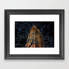 Christmas at Rockefeller Center Framed Art Print