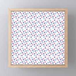 stars 14 blue Framed Mini Art Print