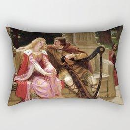 "Edmund Blair Leighton ""Tristan and Isolde"" Rectangular Pillow"