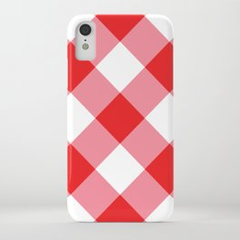 Gingham - Red iPhone Case