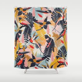 Paradise Birds II. Shower Curtain