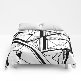 Rubber Rob Geometry Comforters