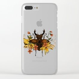 Blooming Beetle Clear iPhone Case