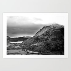Mount Snowdon, Snowdonia, Wales. Art Print