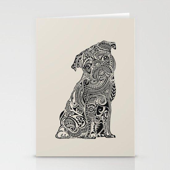 Polynesian Pug Stationery Cards