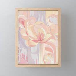 Floral Drip Framed Mini Art Print