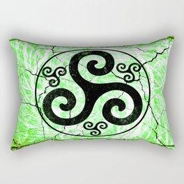 Black Irish Triskelion Rectangular Pillow