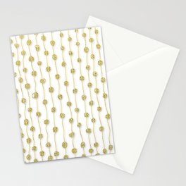 Raining Gold Glitter Confetti - Luxury golden design Stationery Cards