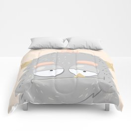Cute Monster Grey Comforters