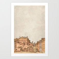 Tea in Edinburgh Art Print
