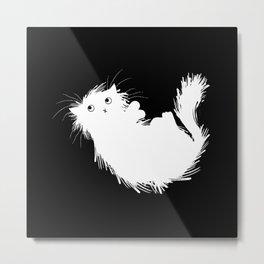 Moggy (No.3) white version Metal Print
